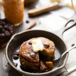 Healthy and FLOURLESS pumpkin chocolate-chip cookie pancakes!