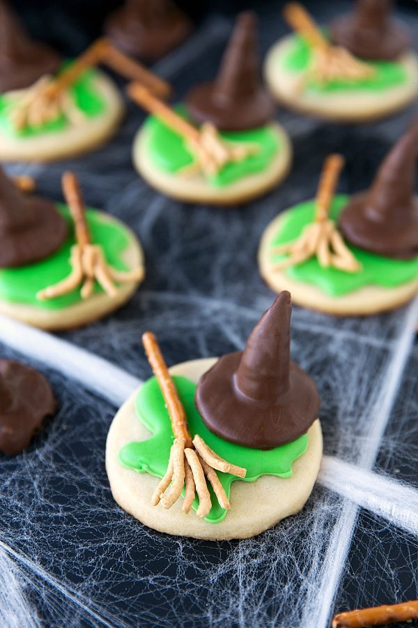 Melted Wicked Witch Cookies