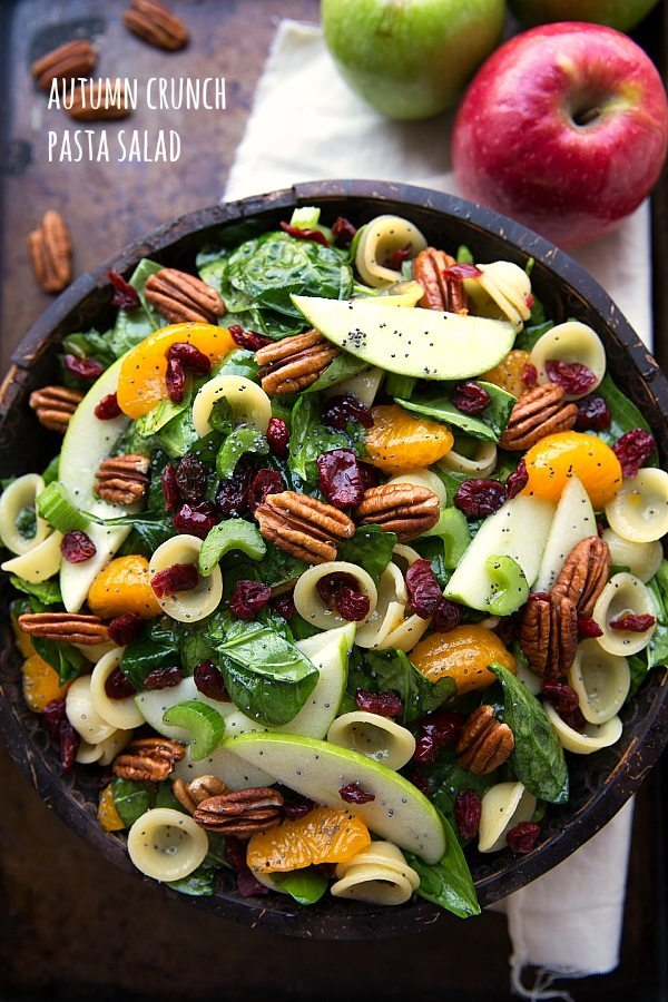 Autumn Crunch Pasta Salad | Thanksgiving Pasta Recipes | Homemade Recipes