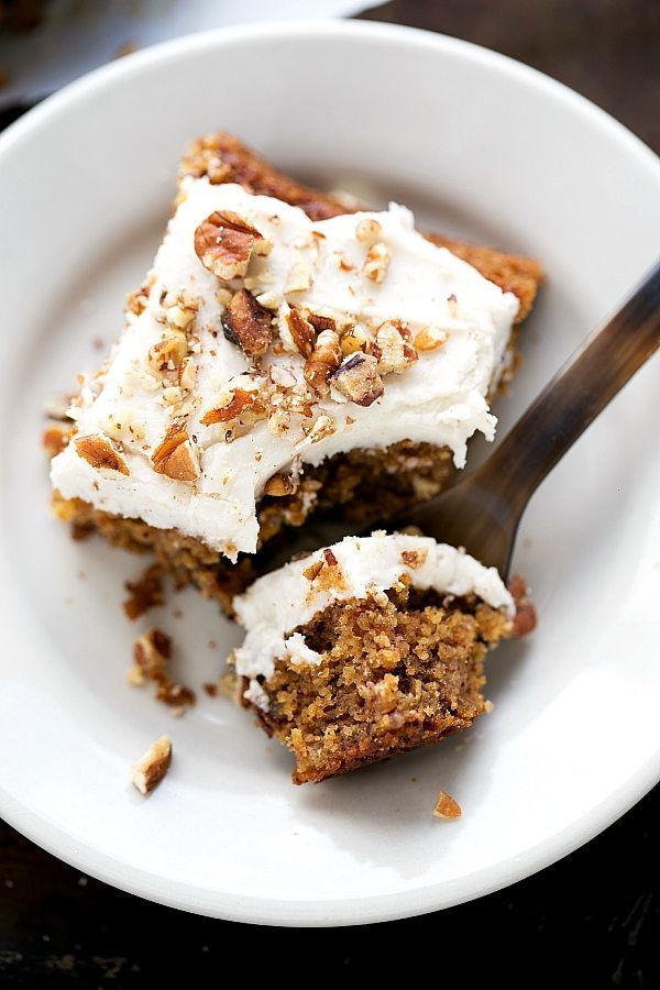 Absolutely delicious applesauce cake with NO flour and healthier swaps!