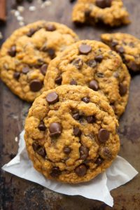 Delicious and Simple Non-Cakey Pumpkin Chocolate-Chip Cookies