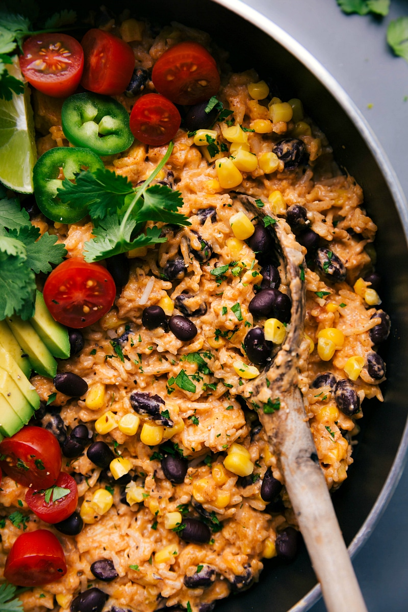 Image of the finished Mexican Chicken and Rice, ready to be served.