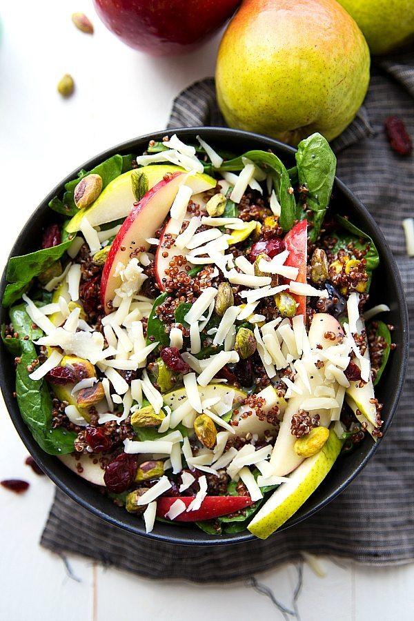 Apple, Pear, Pistachio Quinoa Salad