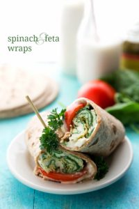 Easy and Healthy Spinach, Feta, and Tomato Egg Wraps