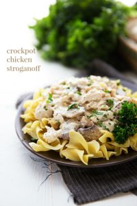 Easy slow cooker chicken stroganoff -- NO cream of soups!