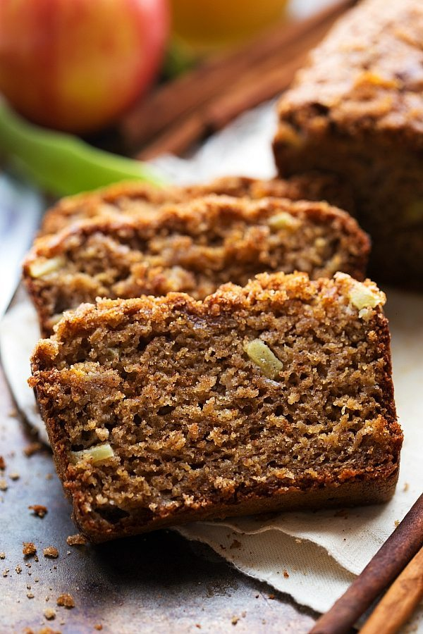Healthier Greek Yogurt Applesauce Bread