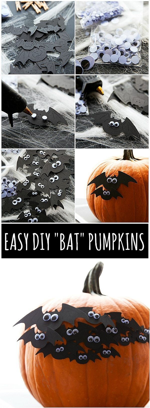 Easy DIY Bat Halloween Party with treats and simple decorations