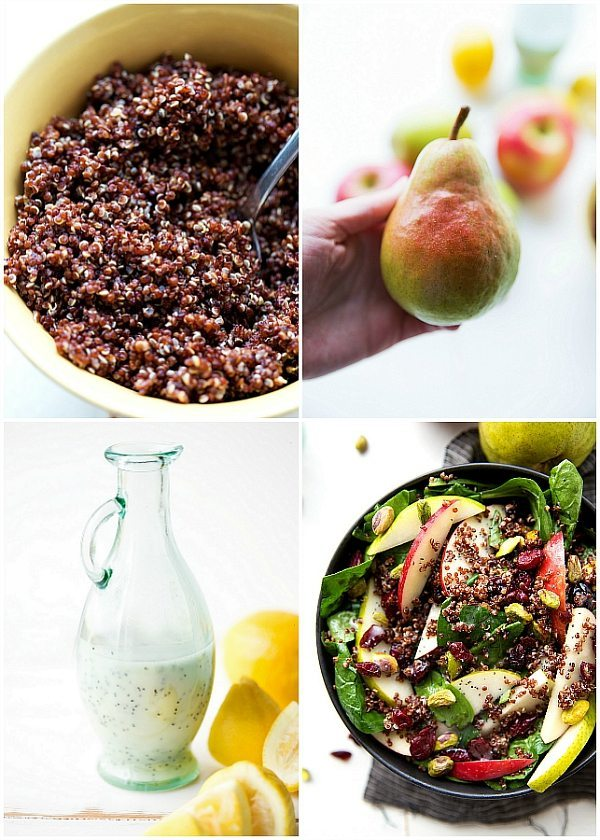 Quinoa Fall Spinach Salad