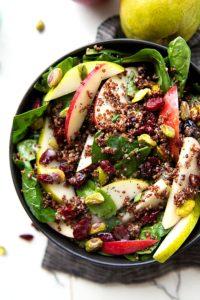 Quinoa Spinach Fall Salad