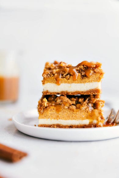 Pumpkin Cheesecake Bars with a Streusel Topping