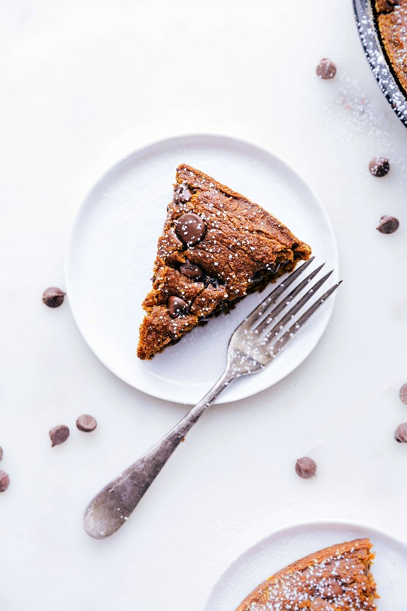 Image of a slice of the gluten free pumpkin cake
