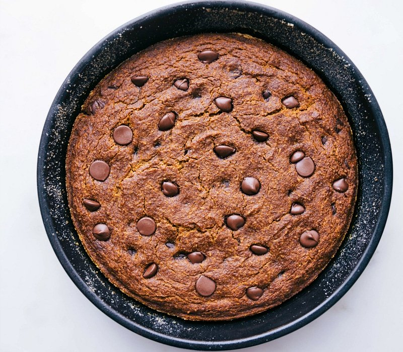 Images of the gluten free pumpkin spice cake fresh out of the oven and ready to be eaten