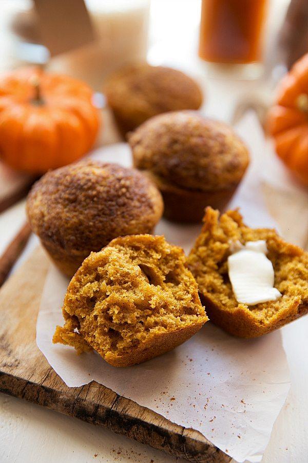 Healthier Pumpkin Cheesecake Muffin