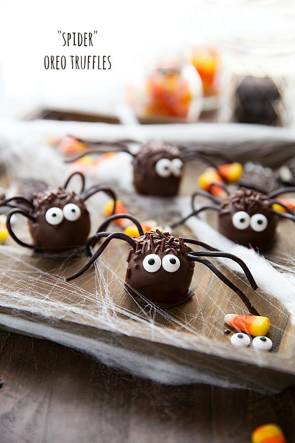Easy Spider Oreo Balls Candy Corn Punch Chelsea's Messy Apron Magnificent How To Decorate Oreo Balls
