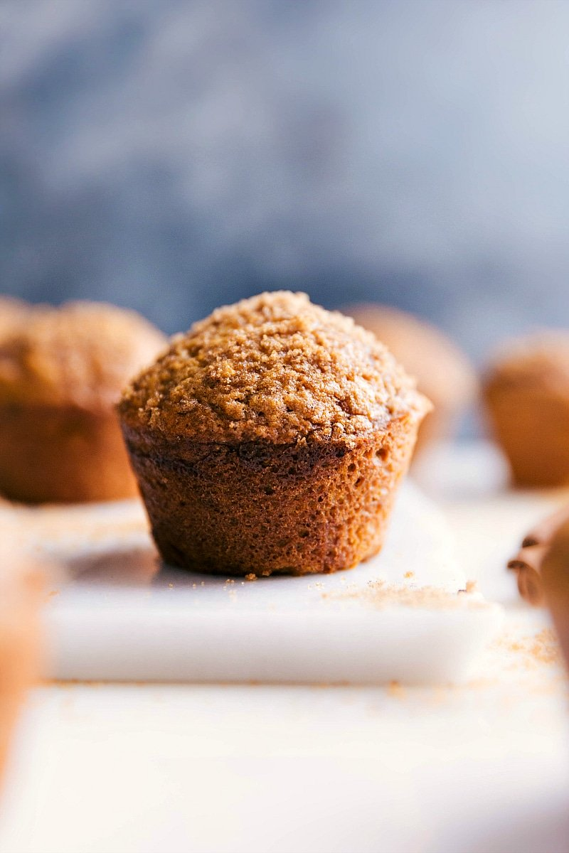 Image of the pumpkin muffins fresh out of the oven ready to be eaten