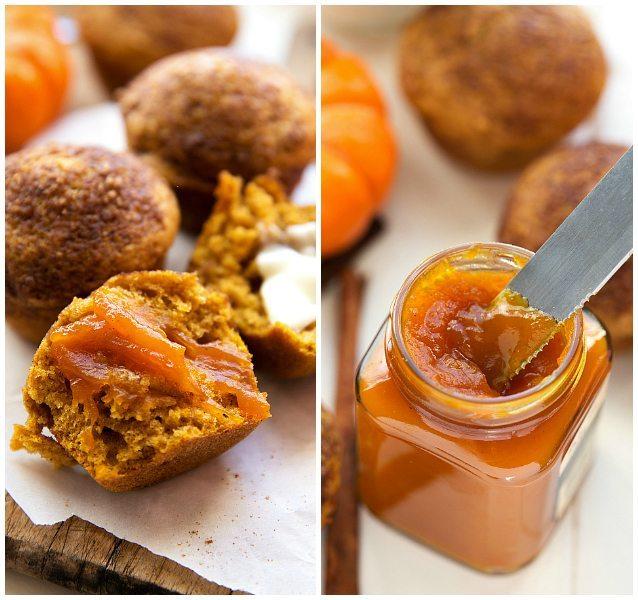 Pumpkin Muffins made with healthier ingredients