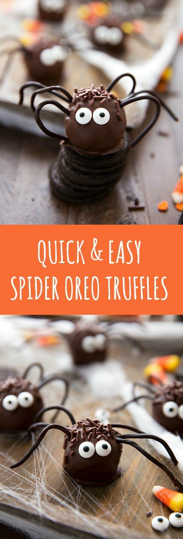 SIMPLE SPIDER OREO TRUFFLES - PERFECT HALLOWEEN TREAT