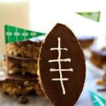 Football Shaped No Bake Granola Bars