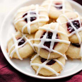 Thumbprint Cookies (Raspberry Almond Flavored)