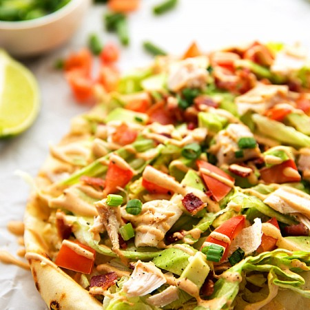 Turkey Avocado Flatbread (Video)