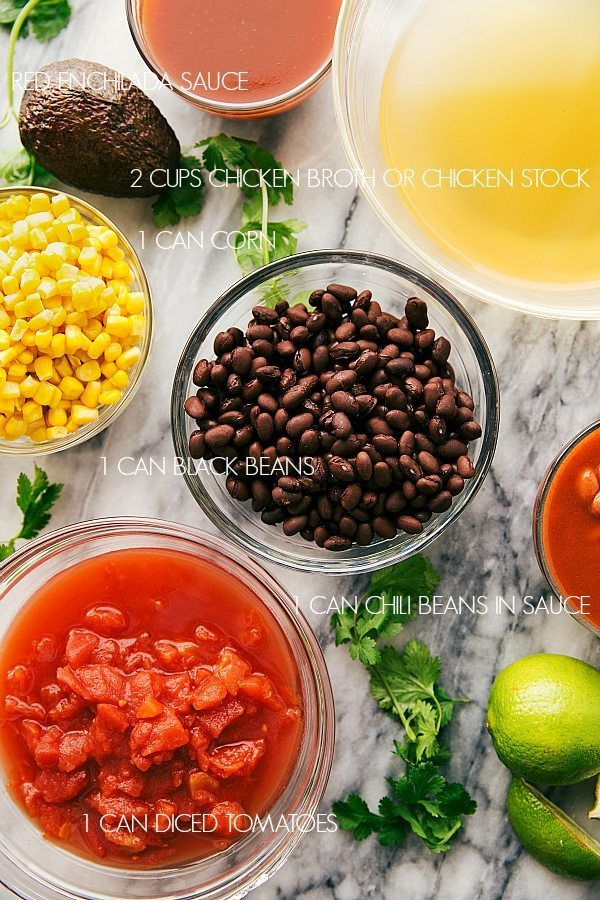 CHICKEN ENCHILADA CHILI INGREDIENTS