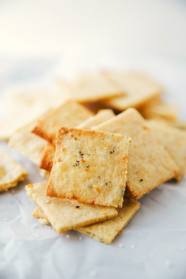 Easy Parmesan Crackers - Chelsea's Messy Apron