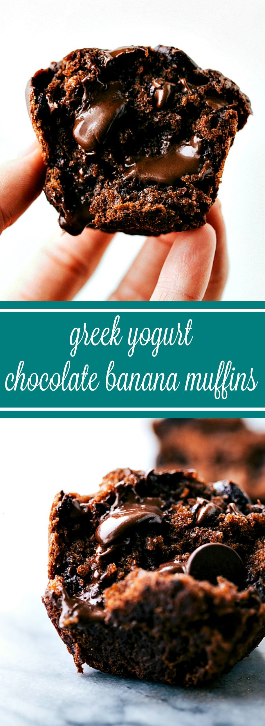 Greek Yogurt Chocolate Banana Muffins - Chelsea's Messy Apron