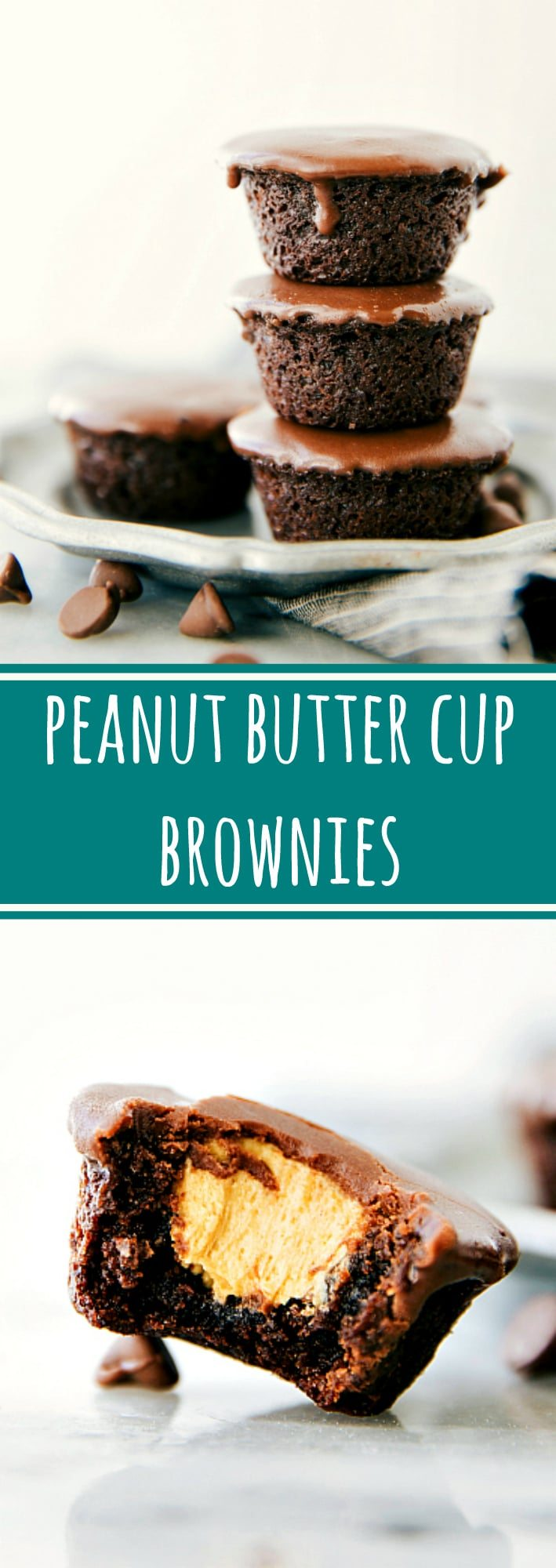 Blue apron brownies - Easy Miniature Peanut Butter Cup Brownie Bites Creamy Peanut Butter Filling In A Chocolate Fudge