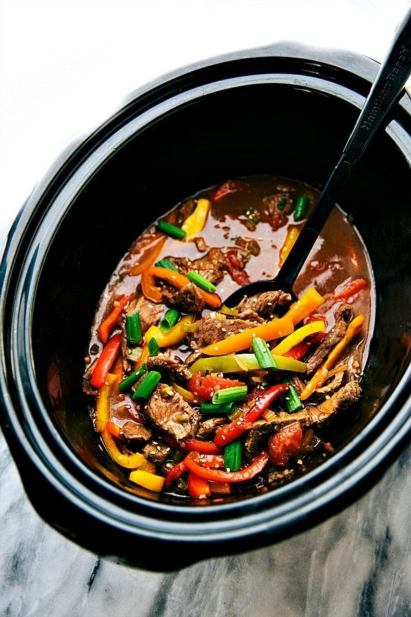 Crockpot Steak And Peppers