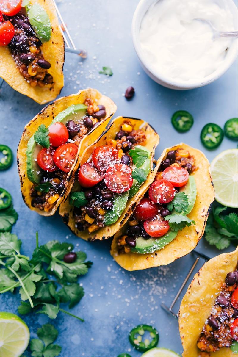 Overhead image of Quinoa Tacos.