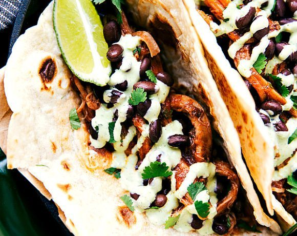 Sweet Pulled Pork Tacos (Cafe Rio CopyCat)