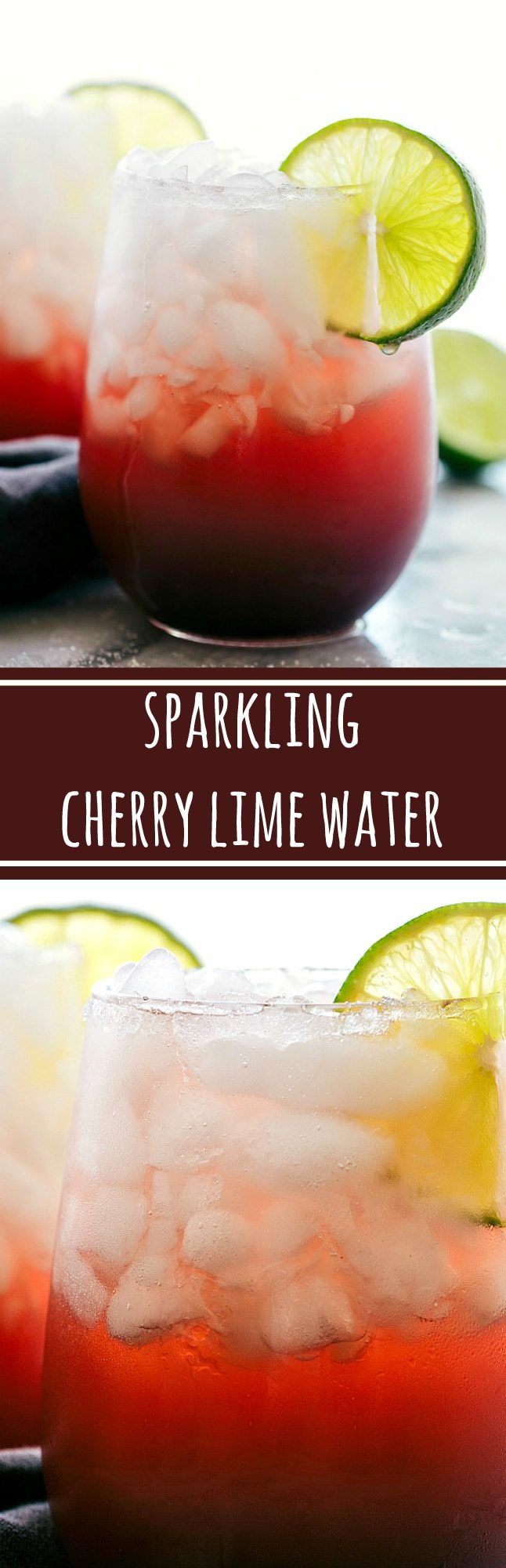 4-ingredient Cherry-Lime Flavored Water. Delicious, refreshing, and low calorie