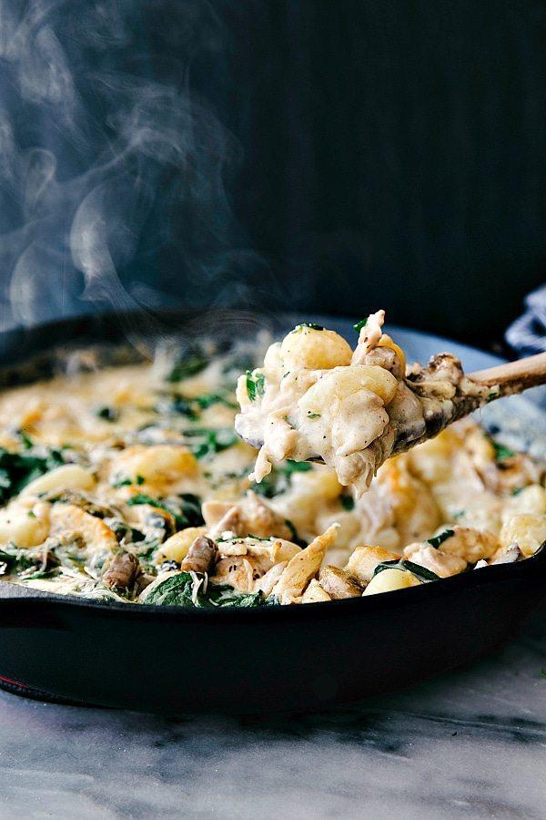 Easy ONE PAN Chicken Gnocchi and Veggies via chelseasmessyapron.com