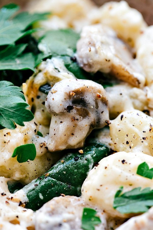 mushroom chicken gnocchi