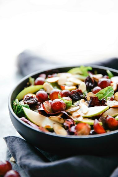 Cherry Balsamic Mixed Greens Salad