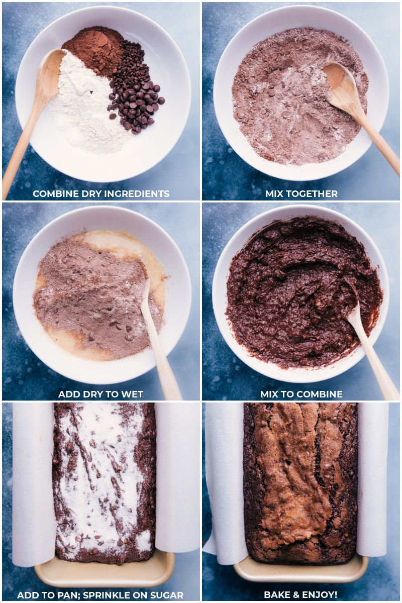 Process shots-- images of the dry ingredients being mixed together