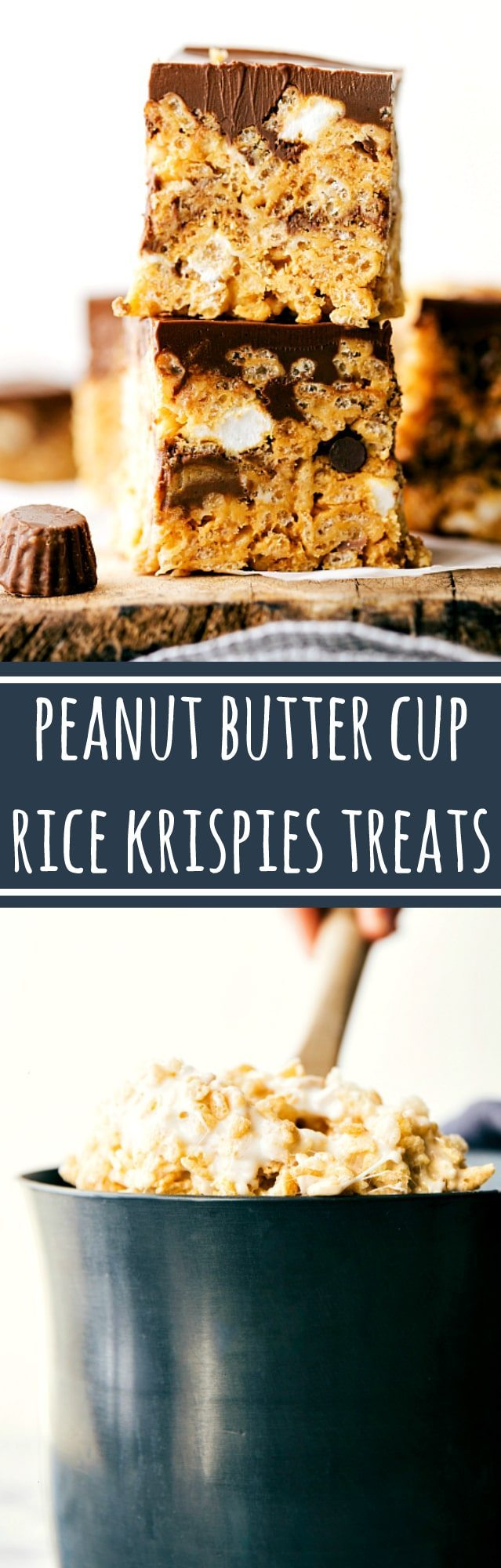 Delicious and easy peanut butter cup rice krispies treats