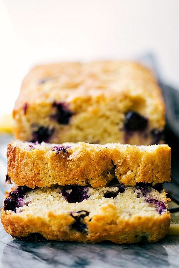 A healthier lemon-blueberry GREEK YOGURT sweet bread. Better ingredients, NO sacrifice of taste!