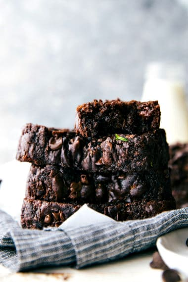 Healthy Chocolate Greek Yogurt Zucchini Bread