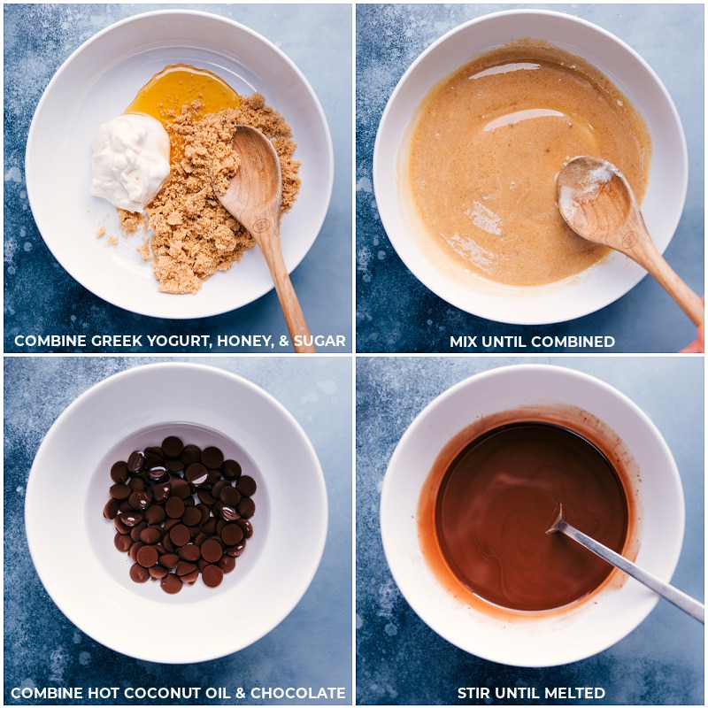Process shots-- images of the wet ingredients being mixed together