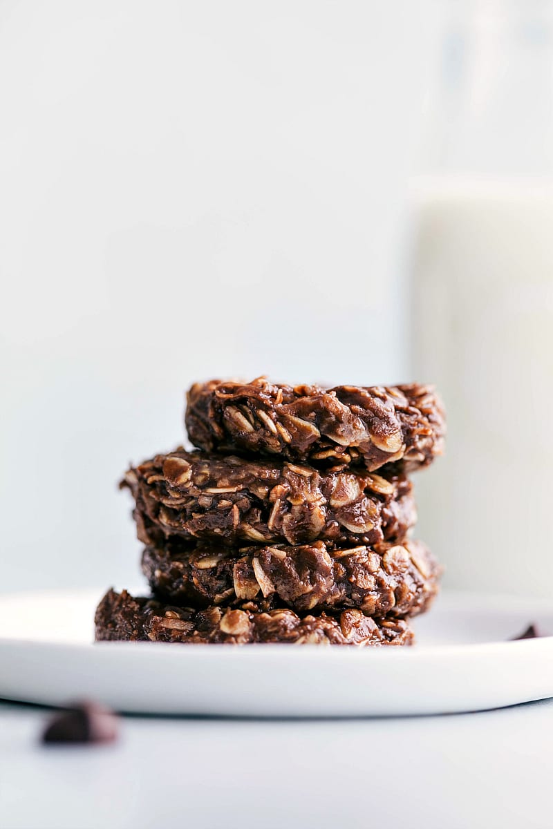 Up close shot of healthy no bake cookies