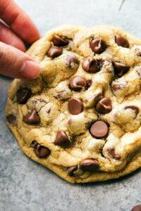Single Serving Size Chocolate Chip Cookie