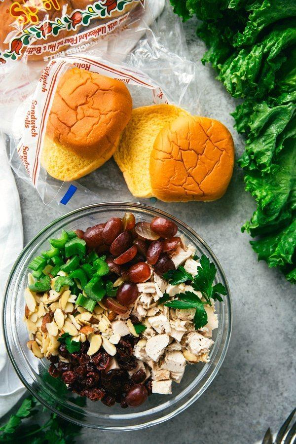 Skinny Chicken Salad Sandwiches -- no mayo or Greek yogurt
