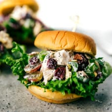 Skinny Chicken salad sandwiches no mayo!
