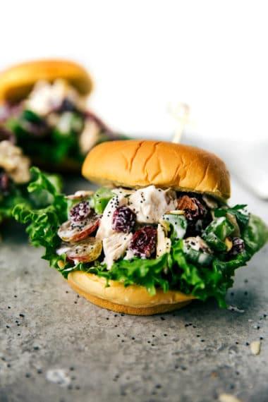 Low Calorie Chicken Salad Sandwiches