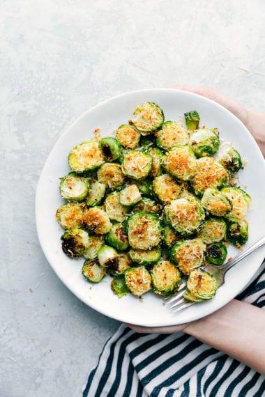 The BEST Crispy Parmesan Brussels Sprouts