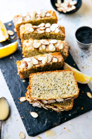 A healthier take on lemon poppyseed bread! This greek yogurt lemon poppyseed bread is made with better-for-you (but still simple) ingredients and is easy to make!