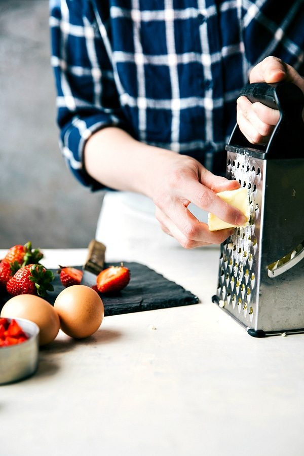 Easy GREEK YOGURT Strawberries and Cream Scones PLUS a chocolate-chip scone recipe!