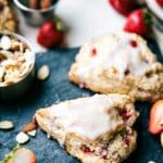 GREEK YOGURT Strawberries and Cream Scones PLUS a chocolate-chip scone recipe!