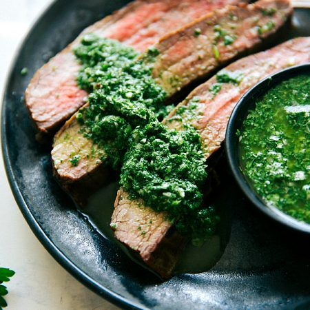 Grilled Flank Steak with Easy Cilantro Chimichurri4
